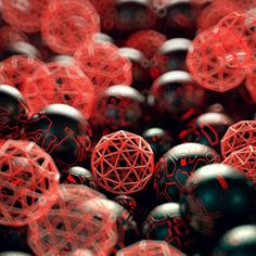 A nicely lit pile of spheres. The materials don't look particularly render-intensive.  - thegraphicspr0ject - splekh