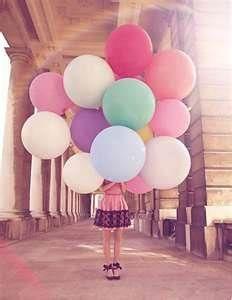 Balloons & color photography fashion #fashion #baloons
