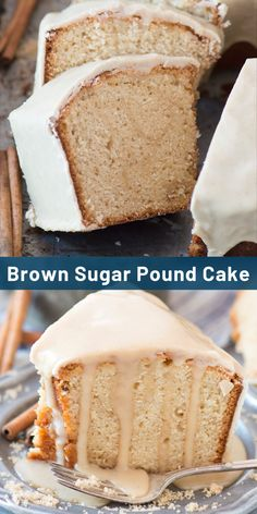 This rich and comforting brown sugar pound cake is a staple in our family! We bring it to potlucks and neighborhood parties! #poundcake #brownsugarpoundcake