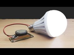 Electric Science at home , Energy Easy make With Magnet Speaker light 2019 Electrical Projects, Electronics Projects, How Electricity Works, How To Makr, Great Inventions, Energy Projects, Tecno, Useful Life Hacks, How To Make Light