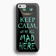 keep calm alice in wonderland quote For iPhone 5/5s black