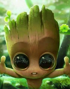 Is this Baby Groot, the baby Baby Groot? He is so adorable 😍 ctto Cute Disney Wallpaper, Cute Cartoon Wallpapers, Cute Wallpaper Backgrounds, Wallpaper Iphone Cute, Baby Wallpaper, Wallpaper Wallpapers, Cute Disney Drawings, Cute Animal Drawings, Kawaii Drawings