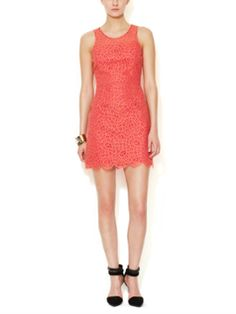 Lace Sheath Dress with Scalloped Hem from Weekend in the City on Gilt
