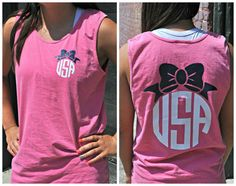Cheap and preppy monogrammed tank top only $15