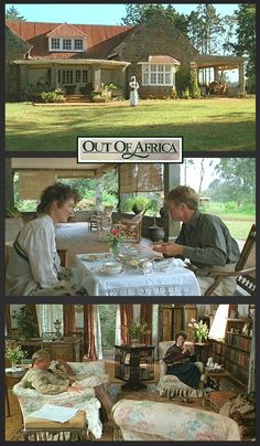 "A closer look inside one of my favorite movie houses: Karen Blixen's romantic farmhouse from ""Out of Africa"""