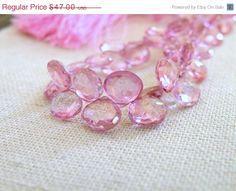 31 Off Sale Pink Topaz Gemstone Briolette by somsstudiosupplies, $32.43