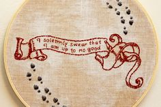 Marauder's Map Embroidery Pattern