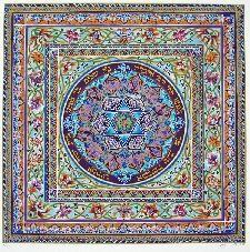 Jewish Mandala Peace Blessing by Orly Lauffer