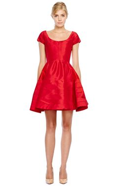 Silk Faille Cocktail Dress by Zac Posen - Moda Operandi