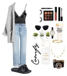 """Untitled #29"" by demeryjaguar on Polyvore featuring For Love & Lemons, Alexander McQueen, J. Adams, Gucci, Mykita, Bobbi Brown Cosmetics, Kat Von D, GUESS, Cartier and Sonix"