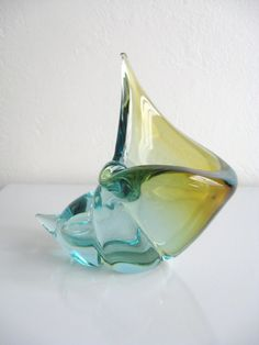 Vintage Mid Century MODERN SEGUSO Sommerso MURANO by fabulousmess, $195.00
