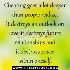 Cheating goes a lot deeper than people realize