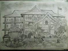 Live Sketch forestry office Makassar Indonesia Pencil 6b & Paper A4 By : Jaz blues