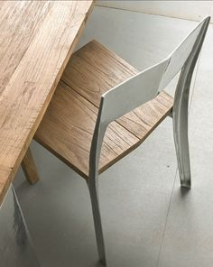 #wood and aluminium #chair NOA by @elitetobe