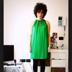 Zara green dress Never worn Zara basics green dress. To big for me. Cover pic is not mine Zara Dresses