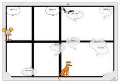 Plantilla Child 29x42 para la Creación de Foto Libros - Fondo Viñetas y dibujos (perro, arañas, niña)