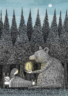 Hill Pen and Ink Illustration Drawing by Alex G Griffiths