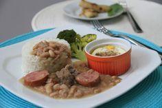 RECEITA THERMOMIX: Arroz, feijão e carne com legumes e ovo no vapor
