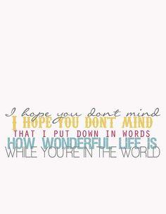 great lyrics