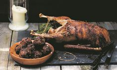 St. George's Day recipe: roast goose with pork, prune and cider brandy stuffing