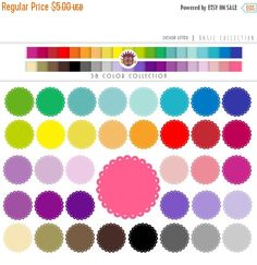 Until New Year - Scalloped Circles clip art Basic Collection - 38 PNG cupcake border frame digital in rainbow of colors - scrapbooking, Circle Borders, Bookmarks, Banner, Handmade Items, Greeting Cards, Clip Art, Rainbow, Scrapbook, Wall Art