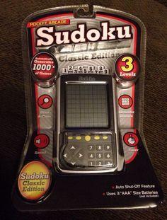 NEW Pocket Arcade Sudoku Classic Edition For Sale On Ebay!