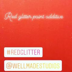 Wellmade Studios (@wellmadestudios) • Instagram photos and videos Glitter Paint Additive, Red Walls, Red Paint, Red Glitter, Studios, Photo And Video, Videos, Photos, Painting