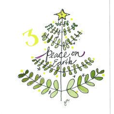Advent Doodle 2014 #adventchallenge2014 Jane Moore Houghton janemhoughton.com