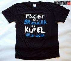 Koszulka z zabawnym napisem Facet bez Brzucha jest jak Kufel bez ucha