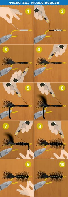 How to Tie a Wooly Bugger - the only fly I learned how to tie