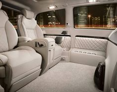Interior of a Mercedes-Benz Viano Vision Diamond – Luxury Van