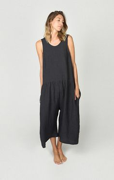 522d535d032 ILANA KOHN SAMET JUMPSUIT IN FADED BLACK Minimalist Fashion Summer