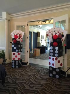 Entrance into the casino. Entrance to the casino . Casino Party Decorations, Casino Theme Parties, Party Themes, Casino Royale Theme, Party Ideas, Themed Parties, Casino Themed Centerpieces, Game Night Decorations, Event Themes