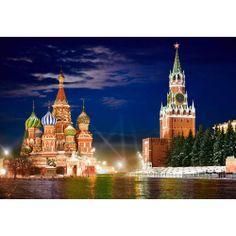 Red Square by Night in Moscow, Russia - Jigsaw Puzzle By Castorland (discon) Countries Around The World, Places Around The World, Oh The Places You'll Go, Around The Worlds, Place Rouge, Places Worth Visiting, Cultural Architecture, Cathedral Church, Taj Mahal