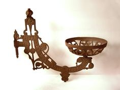 Vintage Cast Iron Gas Wall Lamp Bracket by MargsMostlyVintage