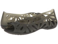 de1eaba2eb3a58 Crocs adrina iii peep toe flat black black