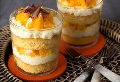 Narancsos tiramisu pohárban Hungarian Cake, Hungarian Recipes, Tiramisu, Sweet Cooking, Orange, Cheesecake, Muffin, Food And Drink, Pudding