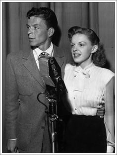 Judy Garland & Frank Sinatra Performed on 'The Danny Kaye Show', October > Frank: In 'Anchors Aweigh' was I OK? :: > Judy: I just adored Gene Kelly! :: > Frank: Thanks a lot! So love Sinatra Old Hollywood, Viejo Hollywood, Golden Age Of Hollywood, Hollywood Stars, Classic Hollywood, Judy Garland, Radio E Tv, Cinema, Olivia De Havilland