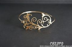 "【14KGF】Wire Bangle"" Filigree-C-"" - オスタラ"