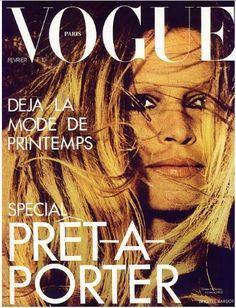 old photo - Brigite Bardot  in magazine vogue - 1973