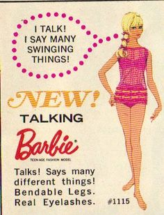 "She says the swingin'est things! Like ""Toss the keys in the bowl Ken!"" Retro Advertising, Vintage Advertisements, Fashion Advertising, Retro Ads, Vintage Ads, Dawn Dolls, Barbie I, Vintage Barbie Dolls, Barbie World"