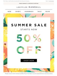 #newsletter Loeffler Randall 06.2014 50% Off Summer Sale Starts Now