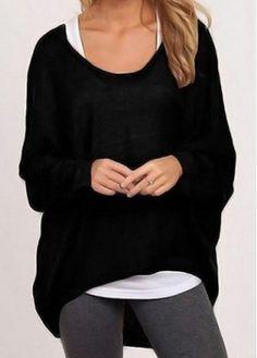 Black Round Neck Long Sleeve T Shirt on sale only US$19.16 now, buy cheap Black Round Neck Long Sleeve T Shirt at modlily.com