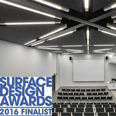 Surface Design Public Building Interior Surface Finalist 2016 - Our Winchester College project featuring @clipsoglobal ceiling & wall system as well as @spigogroup acoustic wood panelling, all installed by our team.  #SDS16