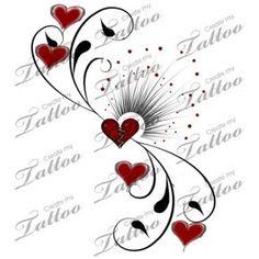 Marketplace Tattoo heart broke no more #1601 | CreateMyTattoo.com
