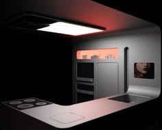 why not a dark kitchen; futuristic kitchen design; by Gorenje.