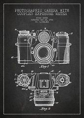 Technical Drawing Featured Images - Camera Patent Drawing From 1962  by Aged Pixel