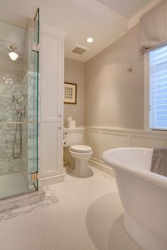 traditional bathroom by knowles ps tub, wallcolor