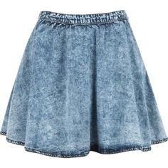 RHIANNA SKIRT ❤ liked on Polyvore featuring skirts, bottoms, saias, faldas and blue skirt