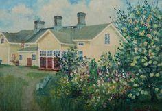 Kalle Aaltonen. Riikin talo. Öljy kankaalle. 1949. Painting, Art, Art Background, Painting Art, Kunst, Paintings, Performing Arts, Painted Canvas, Drawings
